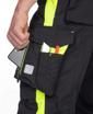 Obrázek z ARDON NEON Pracovní kalhoty do pasu černo-žluté