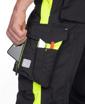 Obrázek z ARDON NEON Pracovní kalhoty do pasu černo-žluté prodloužené