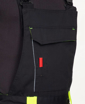 Obrázek z ARDON NEON Pracovní kalhoty s laclem černo-žluté prodloužené
