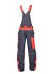 Obrázek z ARDON NEON Pracovní kalhoty s laclem šedo-červené zkrácené