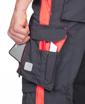 Obrázek z ARDON NEON Pracovní kalhoty s laclem šedo-červené prodloužené