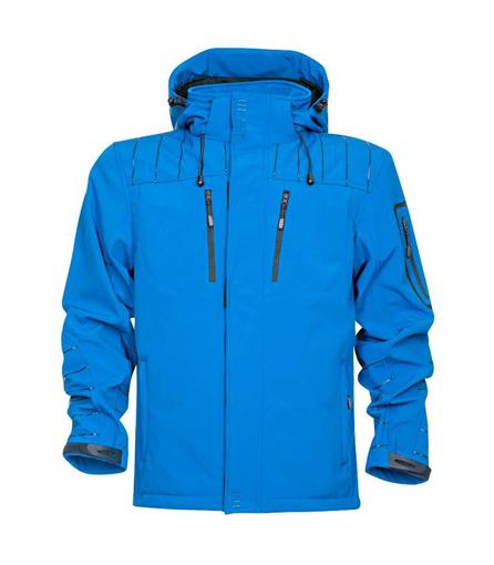 Obrázek z 4TECH Pánská softshellová bunda modrá