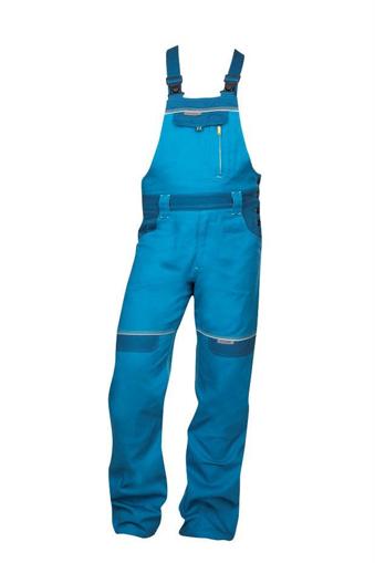 Obrázek z COOL TREND Pracovní kalhoty s laclem středně modré prodloužené