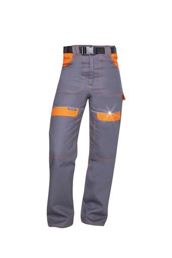 Obrázek z COOL TREND Dámské pracovní kalhoty do pasu šedo / oranžové