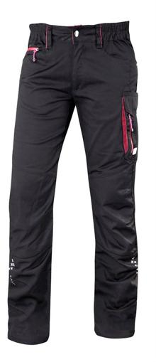 Obrázek z ARDON FLORET Dámské pracovní kalhoty do pasu černo / růžové