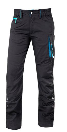 Obrázek z ARDON FLORET Dámské pracovní kalhoty do pasu černo / modré