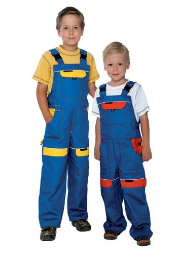 Obrázek z COOL TREND Dětské pracovní kalhoty s laclem modro / žluté