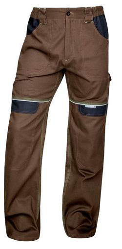 Obrázek z COOL TREND Pracovní kalhoty do pasu hnědé prodloužené