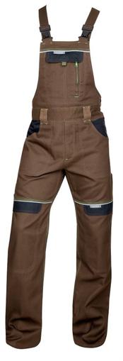 Obrázek z COOL TREND Pracovní kalhoty s laclem hnědé
