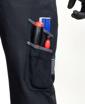 Obrázek z COOL TREND Pracovní kalhoty s laclem černé zkrácené