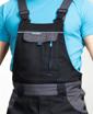 Obrázek z COOL TREND Pracovní kalhoty s laclem černé prodloužené