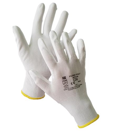 Obrázek z BAN POLY PU300 03133 Máčené pracovní rukavice bílé