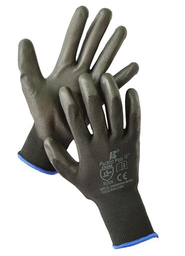 Obrázek z BAN POLY PU300 03134 Máčené pracovní rukavice černé