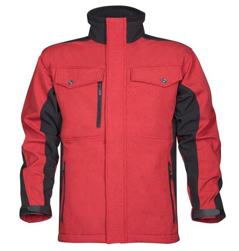 Obrázek z PRE100 Pánská softshellová bunda červená