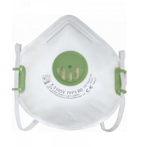 Obrázek z OxyLine X310 SV FFP3 Respirátor tvarovaný s ventilkem