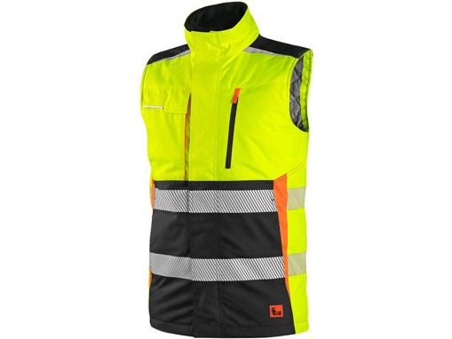 Obrázek z CXS BENSON Výstražná zateplená vesta žluto-černá