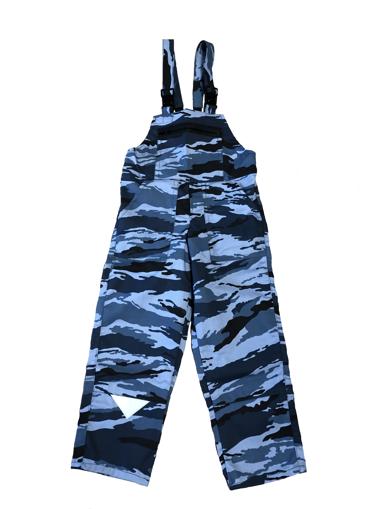 Obrázek z M+P DAVID Dětské pracovní kalhoty s laclem modrý maskáč