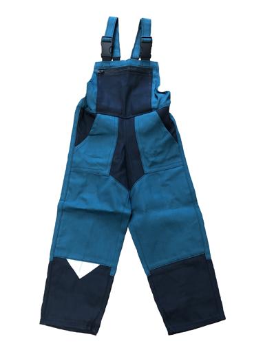 Obrázek z M+P DAVID Dětské pracovní kalhoty s laclem zeleno / černé