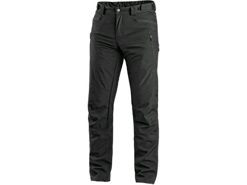 Obrázek z CXS AKRON Pánské kalhoty do pasu, softshell, černé