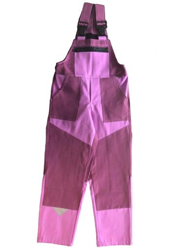 Obrázek z M+P DAVID Dětské pracovní kalhoty s laclem růžové new