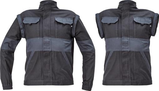 Obrázek z Cerva MAX NEO Pracovní montérková bunda 2v1 černo / šedá