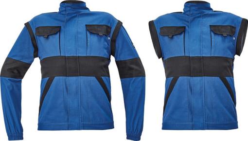 Obrázek z Cerva MAX NEO Pracovní montérková bunda 2v1 modro / černá