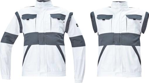 Obrázek z Cerva MAX NEO Pracovní montérková bunda 2v1 bílo / šedá