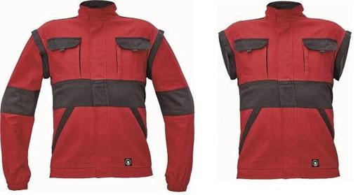 Obrázek z Cerva MAX NEO Pracovní montérková bunda 2v1 červeno / černá