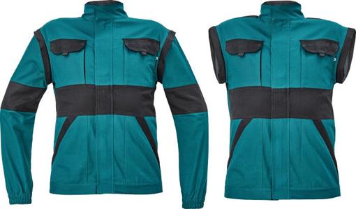 Obrázek z Cerva MAX NEO Pracovní montérková bunda 2v1 zeleno / černá