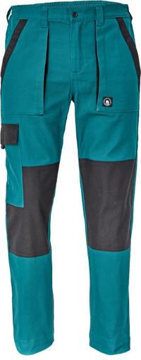 Obrázek z Cerva MAX NEO Pracovní kalhoty do pasu zeleno / černé