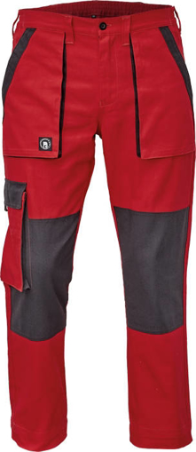 Obrázek z Cerva MAX NEO Pracovní kalhoty do pasu červeno / černé