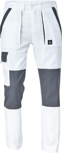 Obrázek z Cerva MAX NEO Pracovní kalhoty do pasu bílo / šedé