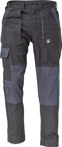 Obrázek z Cerva MAX NEO Pracovní kalhoty do pasu černo / šedé
