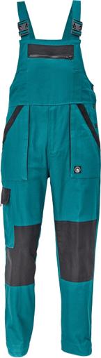 Obrázek z Cerva MAX NEO Pracovní kalhoty s laclem zeleno /černé