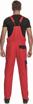 Obrázek z Cerva MAX NEO Pracovní kalhoty s laclem červeno / černé