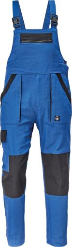 Obrázek z Cerva MAX NEO Pracovní kalhoty s laclem modro / černé