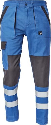 Obrázek z Cerva MAX NEO REFLEX Pracovní kalhoty do pasu modro / černé