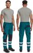 Obrázek z Cerva MAX NEO REFLEX Pracovní kalhoty do pasu zeleno / černé