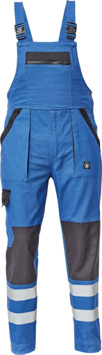 Obrázek z Cerva MAX NEO REFLEX Pracovní kalhoty s laclem modro / černé