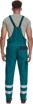 Obrázek z Cerva MAX NEO REFLEX Pracovní kalhoty s laclem zeleno / černé