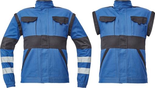 Obrázek z Cerva MAX NEO REFLEX Pracovní montérková bunda 2v1 modro / černá