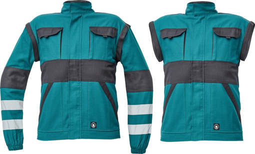 Obrázek z Cerva MAX NEO REFLEX Pracovní montérková bunda 2v1 zeleno/ černá