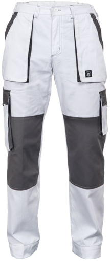 Obrázek z Červa MAX SUMMER Pracovní kalhoty do pasu bílo / šedé