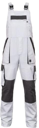Obrázek z Červa MAX SUMMER Pracovní kalhoty s laclem bílo / šedé