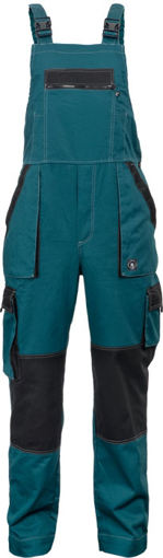 Obrázek z Červa MAX SUMMER Pracovní kalhoty s laclem zeleno / černé