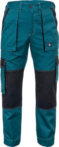 Obrázek z Červa MAX SUMMER Pracovní kalhoty do pasu zeleno / černá