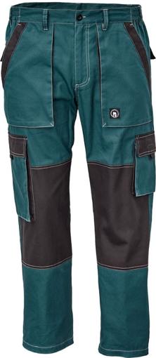 Obrázek z Červa MAX SUMMER Pracovní kalhoty do pasu petrolejová / černá