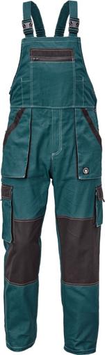 Obrázek z Červa MAX SUMMER Pracovní kalhoty s laclem petrolejová / černá