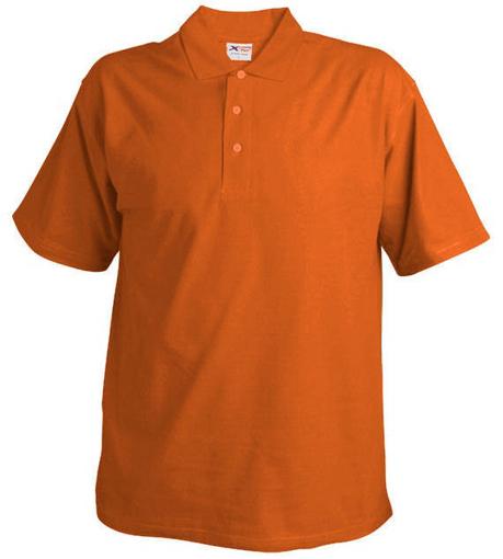 Obrázek z Pánská pique polokošile 220 oranžová