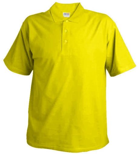 Obrázek z Pánská hladká polokošile Chok 190 žlutá